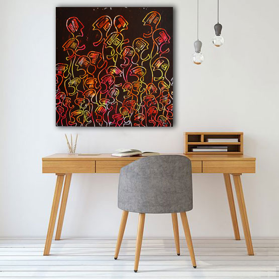 artiste peintre contemporain delphine dessein tableaux fluos. Black Bedroom Furniture Sets. Home Design Ideas