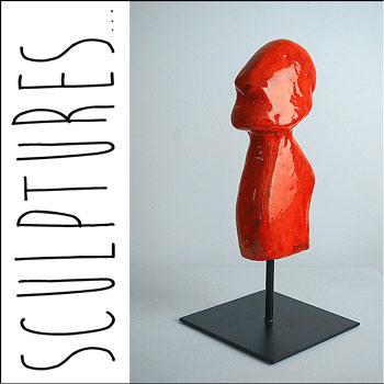 Sculptures Contemporaines de l'artiste plasticienne Delphine Dessein | Artiste peintre contemporain Nord (Lille) / Var